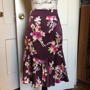 NWOT The Limited silk floral skirt.